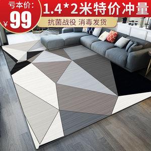 北欧风地毯客厅简约茶几沙发卧室房间满铺床边毯家用大面积地毯垫
