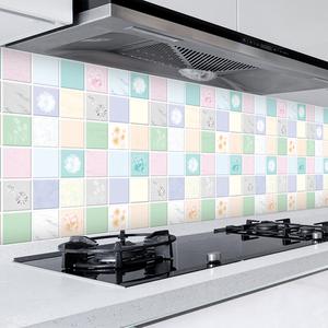厨房自粘防油贴纸防水烟防火耐高温油烟机墙纸柜灶台后墙壁用墙贴
