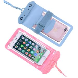 手机防水袋可触屏密封潜水套通用挂脖夏季游泳沙滩透明漂流包装备