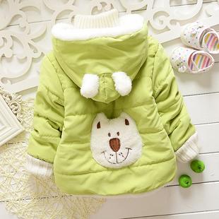 冬季新款童装包邮 男女宝宝棉衣棉袄加绒加厚 婴儿保暖棉服外套