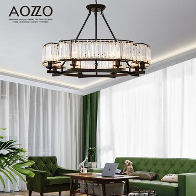 奥朵工业风铁艺美式吊灯乡村别墅创意个性客厅灯复古灯具水晶灯饰