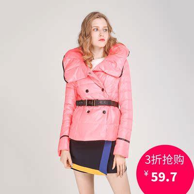 曼天雨品牌折扣 米可系列 冬装新款 高端女装 含白鸭绒修身羽绒服