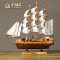 Sail sailing boat ornaments real ship model wooden boat boat black pearl number caribbean pirate ship crafts boat