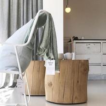 北欧风文艺复古天然实木小茶几小边几床头柜家居民宿工作室软装饰