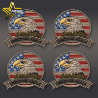 Eagle's Badge Sticker Velcro Armband Badge Embroidered Backpack Sticker