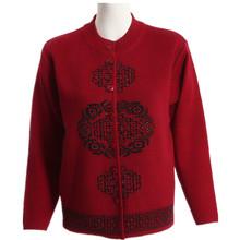 70岁老人针织 奶奶装 冬外套 妈妈羊毛衫 中老年人毛衣女春装 开衫图片
