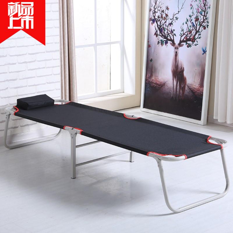 新款特价加固折叠床单人午睡床睡椅办公室简易行军午休床便携式简