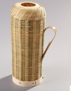 手工竹编热水瓶外壳老式复古暖壶暖瓶水壶餐厅开水瓶罩套包邮