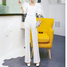 Fashion Pants 2019 New Summer High-waist Sexy Lace Hollow Casual Pants