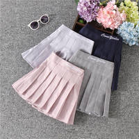 Girls pleated skirt skirt 2019 new spring and autumn foreign children's wild summer plaid college wind skirt