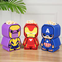 Genuine Marvel Avengers 4 Popcorn Bucket 64oz Iron Man Fighter American Captain Marvel Heroes Style Popcorn Bucket Decoration Captain America Sippy Cup Coke Cup Drink Cup