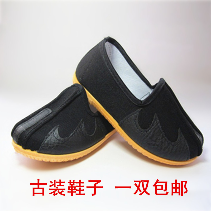 儿童仿古布鞋幼儿老北京布鞋圆口绣龙软底纯棉鞋演出鞋儿童舞蹈鞋