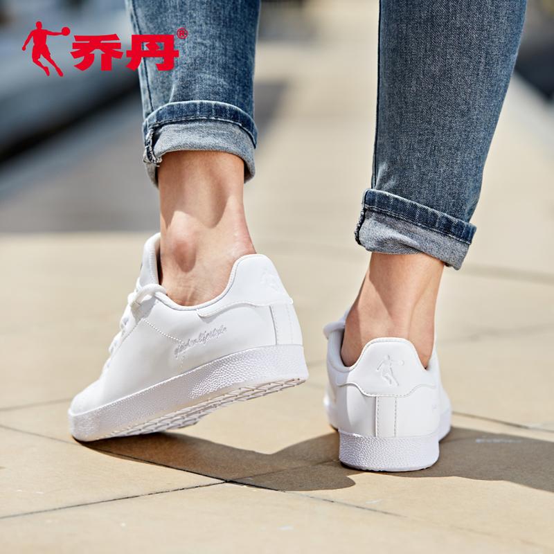 乔丹运动鞋女鞋新款街拍夏季透气休闲鞋子小白鞋女白色板鞋女