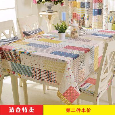 蓝松鼠布艺桌布城市色彩小清新桌布简欧棉麻台布盖巾 居家餐桌布