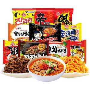 韩国十大好吃的面网红泡面10袋 农心辛拉面三养火鸡面进口炸酱面