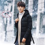 棉衣男冬季新款外套男装棉服韩版修身潮流帅气中长款棉袄子男冬装