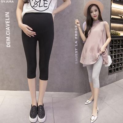 2018孕妇打底裤夏季七分裤孕妇装夏装孕妇裤大码短裤外穿托腹裤