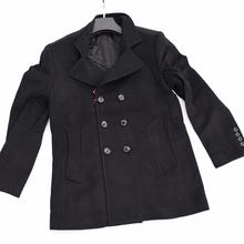 自留玛萨玛索masamaso男式羊毛经典修身款毛呢大衣中长款商务外套