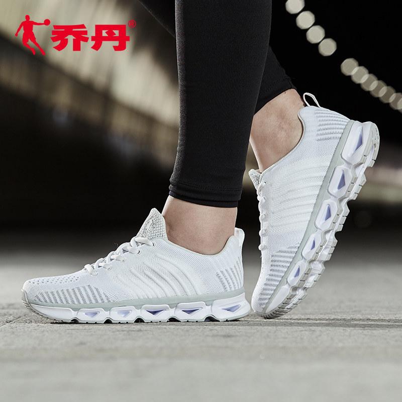 乔丹女鞋跑休闲运动鞋2018秋季新款时尚缓震旅游鞋跑步运动鞋女