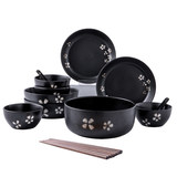 Youcci You Porcelain Creative Japanese Ceramic Cutlery Set Home Cherry Blossom Dish Plate Combination 4 People Food Set