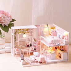 Wisdom House diy cottage handmade small house Chinese style assembled model wooden toy creative birthday gift female