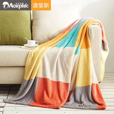 小毛毯夏季薄款珊瑚绒毯子单人双人沙发毯法兰绒空调被午睡毯盖毯