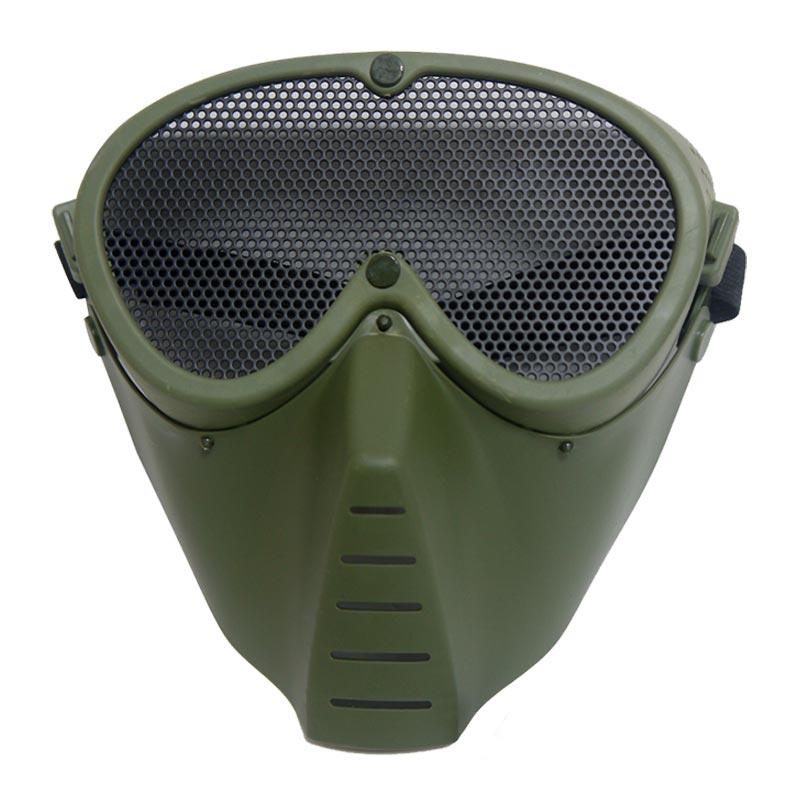 军迷野外CS射击防护护脸面具户外水弹枪全脸防护面罩COS骷髅面具