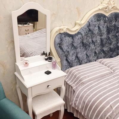 欧式梳妆台小户型 迷你现代简约卧室化妆桌美式经济型简易小型50特价精选