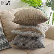 新款加厚亚麻抱枕靠垫简约现代日系沙发靠枕大号靠背垫腰枕套订做