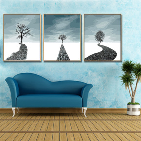 迷朗diy数字油画 客厅卧室抽象风景数码填色手工绘画油彩装饰画