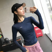 Autumn and winter new fitness clothes women's long-sleeved sports shirt running quick-drying t-shirt tight sexy net red yoga bottoming shirt