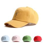 韩国进口鸭舌帽flipper水果刺绣春夏遮阳防晒可爱黄色棒球帽子女
