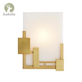 轻奢现代中式新古典客厅卧室壁灯后现代过道样板间设计师云石壁灯