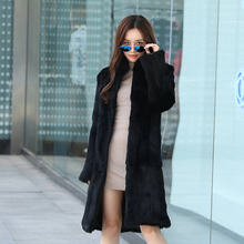 In autumn and winter, rabbit fur, leather Rex rabbit coat, fur coat, long collar, long sleeves, big yards, and rich fur.