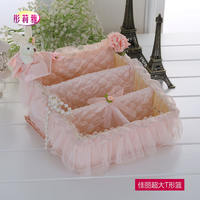 Jiali remote control basket tissue box paper pumping box sundries basket remote control storage basket storage basket variety