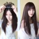 带刘海头顶补发片女 蓬松假发遮白发一片式3d轻薄发片遮盖补发顶