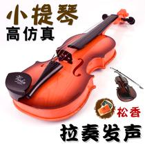 Enfants jeu de violon simulation de guitare violon musique dillumination instrument 3-4-5-6-8 ans 9 mois.