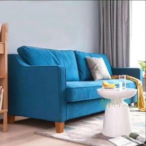 美式乡村欧式双人三人位组合沙发地中海丝绒布艺蓝色北欧客厅沙发