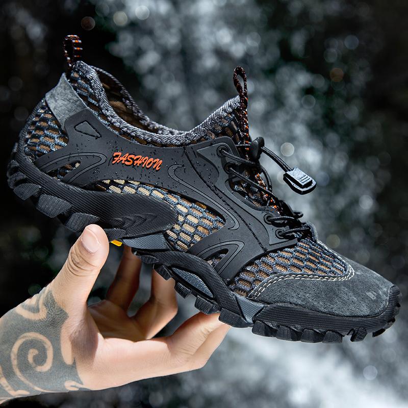 夏季溯溪鞋男士速干涉水陆两栖凉鞋户外徒步登山运动休闲透气网鞋