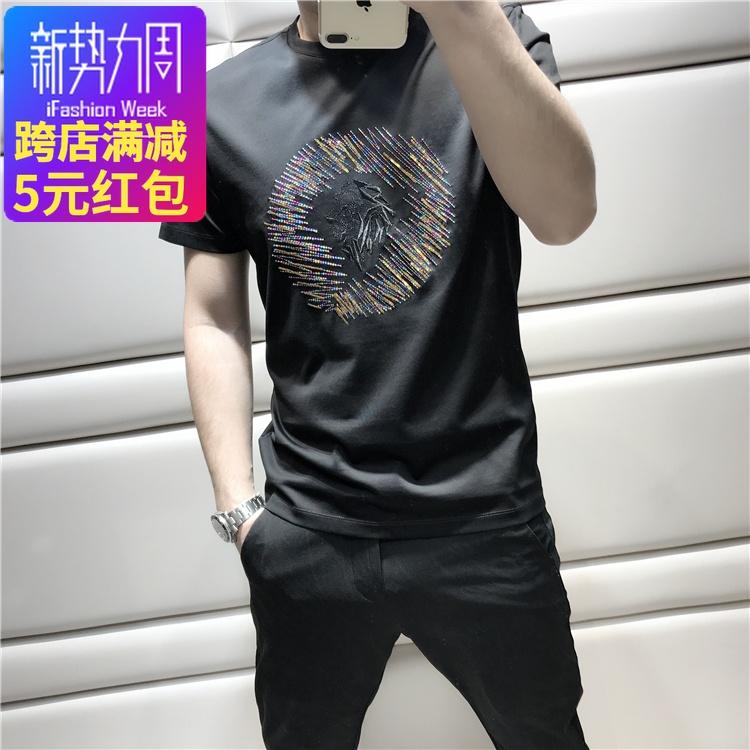 绣珠短t恤
