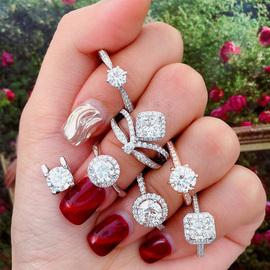 中坦匠语1克拉钻戒女gia裸钻定制 一克拉求婚正品钻石戒指鸽子蛋图片