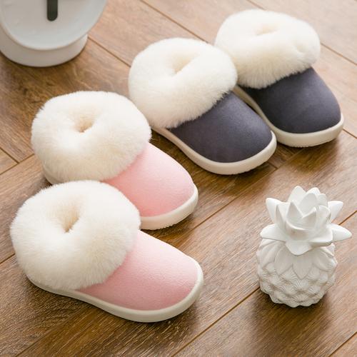 儿童棉拖鞋男童冬季女童包跟保暖室内防滑婴幼儿可爱小童居家保暖