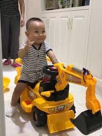 儿童大号挖掘机 小孩挖土机可坐可骑电动充电1-5岁宝宝玩具工程车