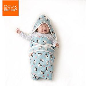 英国douxbebe 婴儿抱被纯棉春秋夏季宝宝用品新生儿包被包巾薄款