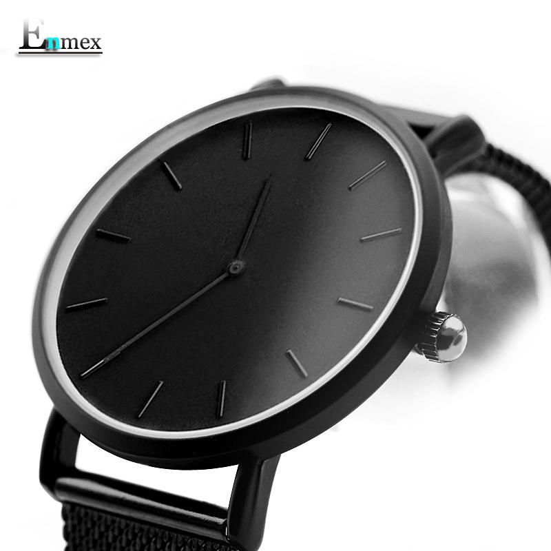 节日礼物 译时Enmex两针轻薄钢织气质腕表简约日历神秘感冷淡手表