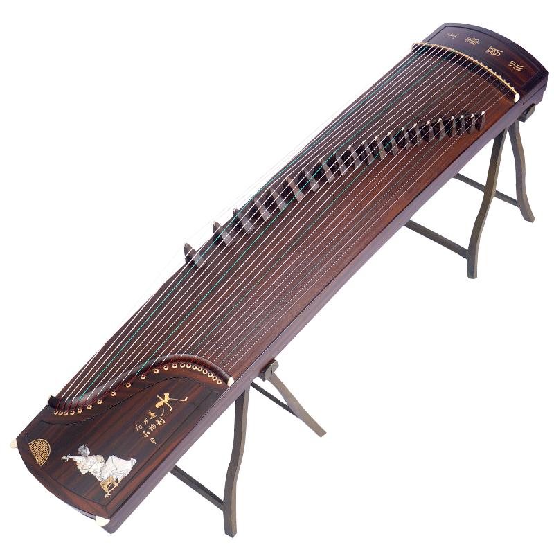 扬州考级古筝送古筝凳 黑檀刻字 上善若水 金韵古筝 新爱琴乐器