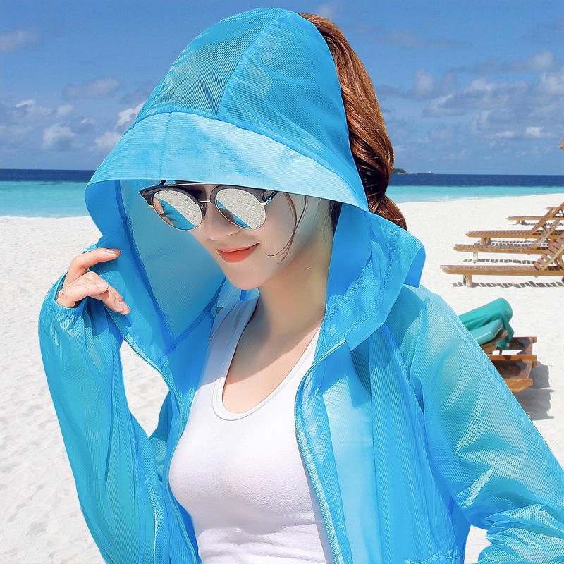 2018夏季新款防晒衣女装中长款薄外套开衫韩版潮长袖防晒服防晒衫
