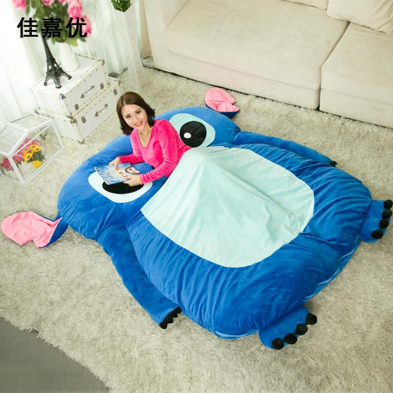 史迪奇地铺睡垫龙猫床榻榻米床垫褥子单人双人可爱懒人床可拆洗3元优惠券