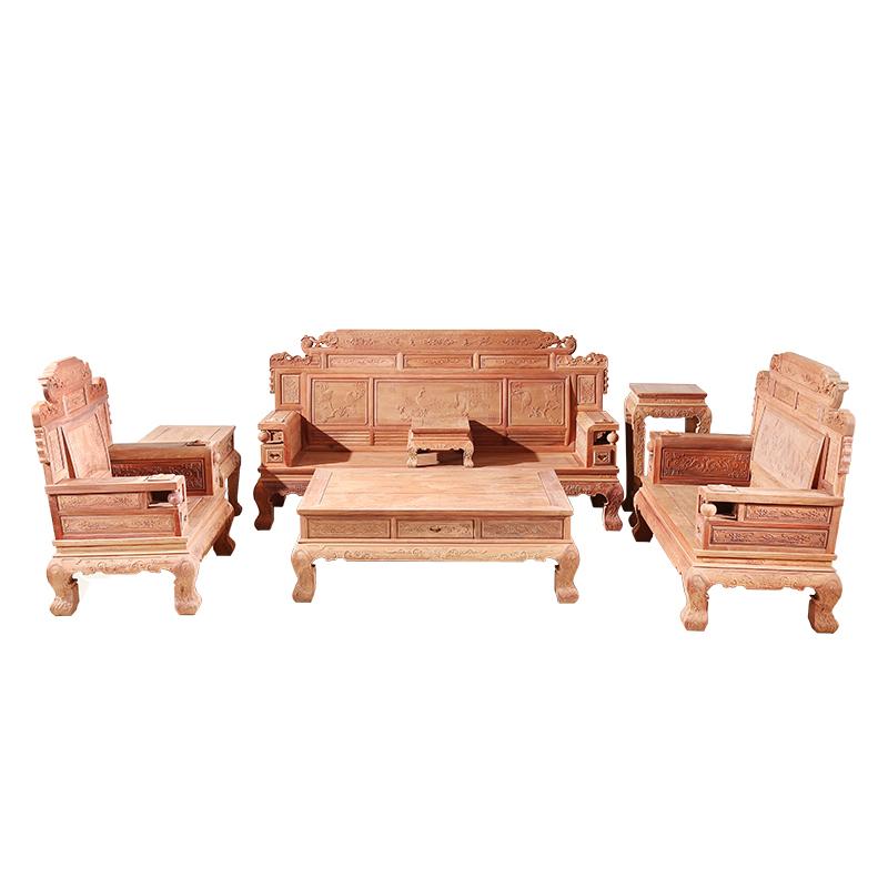 红木沙发缅甸花梨木沙发财源滚滚大果紫檀客厅沙发刺猬紫檀沙发