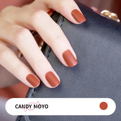【2瓶49】CandyMoyo南瓜磨砂指甲油女脚趾持久夏天显白三福小恶魔